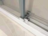 8mm chuveiro porta deslizante de vidro temperado