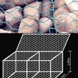 Caixa galvanizada de Gabion do engranzamento de fio de Anping
