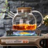 高いホウケイ酸塩の毎日の使用のためのハンドメイドのガラスビンの茶鍋
