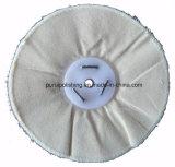 Roue de polissage de polissage de coton blanc desserré pour le polonais final
