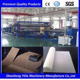 Materiales plásticos del PVC dobles y sola cadena de producción de las esteras del pie del coche de bobina del color