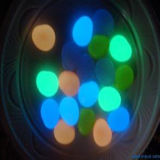 Colore Changing Glow in The Dark Pebble Stone