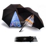 カスタマイズされた創造的なデザインゴム製ハンドルの自動車の開いたまっすぐな傘