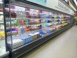 Frente aberta a loja de conveniência de plataforma múltipla chiller