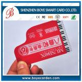 Effacer les cartes de visite professionnelle de visite en plastique givrées