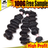 Естественное большое выдвижение волос длин делая машину, оптовые малайзийские волос