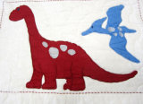 2 PCS algodón del lecho del bordado del bebé (niños) Quilt
