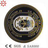 Sampl libero Zinc Alloy 3D Metal Coin con Badge Police Logo