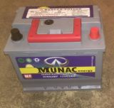 Wartungsfreie Autobatterie grauer des Batterie-roter Griff-neue Entwurfs-DIN62mf