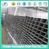 Cuadrado de acero de Pregalvanized y tubo rectangular