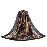 Sjaal Knnitting Pashmina van de Manier 100%Polyester van vrouwen de Zwarte Trendy