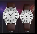 Watch Manufacture Quartz Leather Strap Couple Watch