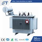 500kVA 3 Transformator van de Distributie van de Macht van Kranen de Olie Ondergedompelde