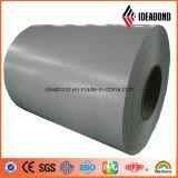 El color metálico de plata cubrió la bobina de aluminio