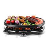 Создатель BBQ домашней пользы электрический покрынный с круглой формой