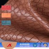 Cuoio artificiale di goffratura del reticolo del coccodrillo del PVC