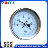 Tipo termometro bimetallico del montaggio del tubo con la molla