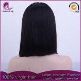 Nuevo estilo recto medio pelo virgen de Malasia de encaje frontal peluca