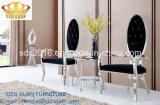 Silla de salón moderna de la tela del banquete de la boda con el marco de acero inoxidable