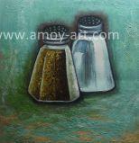 Noch Leben-Pfeffer-Küche-Raum-Ölgemälde