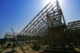 Struttura d'acciaio dell'arco per lo stadio
