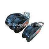 DIY örtlich festgelegte Ausbohrungs-Nylonriemenscheibe/Schwenker-Augen-doppelte Antriebsscheibe-Plastikriemenscheibe mit Wanne