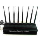 8 stampo dell'emittente di disturbo di VHF di frequenza ultraelevata dell'emittente di disturbo del segnale del telefono delle cellule delle antenne CDMA GSM 3G 4G