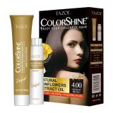 TazolのヘアーケアのColorshineの毛髪染料(中型のブラウン) (50ml+50ml)