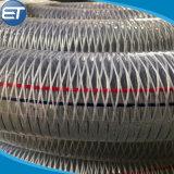 Trançado de fibra de PVC transparente flexível e fios de aço espiral composto de borracha do tubo reforçado