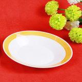 Piatto di ceramica poco costoso della prima colazione del ristorante del piatto