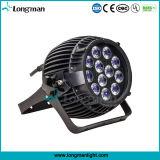 DMX al aire libre 12*4W Rgbawv impermeable 6-en-1 de la luz LED PAR