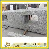 Gelamineerde Witte Countertop van de Steen van het Graniet voor Keuken (G655)