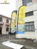 il doppio di promozione di evento di 4.5m ha parteggiato bandierina della piuma di stampa/bandierina di spiaggia