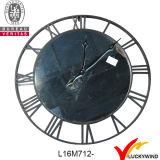 Klok van de Muur van het metaal de Grote Ronde Antieke Franse Uitstekende