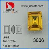 Steen van de Rechthoek van het Kristal van het Punt van de Grootte van de Fabriek van Pujiang de Loodvrije Natuurlijke en Multi Achter Buitensporige met de Klauw van het Metaal voor de Toebehoren van het Kledingstuk
