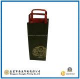 De Zak van de Fles van de Wijn van het Document van kraftpapier (gJ-Bag053)