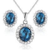 De in het groot Blauwe Reeks van de Juwelen van de Legering van de Tegenhanger van de Parel van het Kristal imitatie