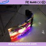 使用料(P3.91、P4.81)のために表示画面のボードの製造業者を広告するポータブルによって曲げられる大きいフルカラーRGB屋外LED