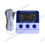경보 (DT-144)를 가진 디지털 온도계, 냉장고 또는 냉장고 온도계