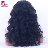 Women를 위한 까만 Burmese Virgin Hair Front Lace Natural Wavy Wig