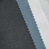 100%年にポリエステル可融性ポリエステルによって編まれる衣服のあや織りファブリック行間に書き込むこと