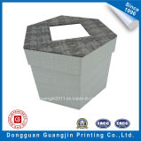 Polygonal su ordine Paper Gift Box con Transparent Window