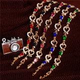 5 de kleurrijke Oostenrijkse Armband van de Ketting van het Hart van de Manier van het Kristal