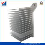 Parti lavoranti del dissipatore di calore di CNC di precisione di alluminio su ordinazione