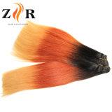 Extensões coloridas do cabelo de Ombre no estoque