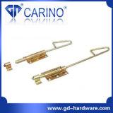 (WX) Type plaqué coloré loquet de Wx de zinc de porte de fer