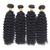 Цвет 18inches бразильских волос качества глубокий курчавый черный
