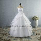 La robe de mariage de qualité lacent vers le haut la robe de mariage des femmes arrières