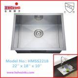 Cupcは台紙のステンレス鋼のハンドメイドの洗浄流し(HMSS2218)の下で承認した