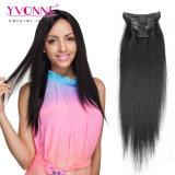 Clip 100% de las extensiones del pelo humano de la Virgen en la extensión del pelo